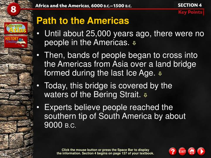 Path to the Americas