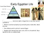early egyptian life