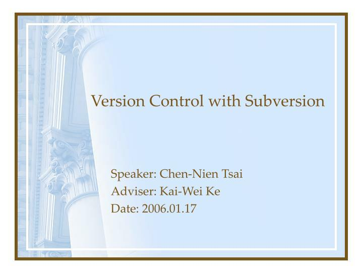 version control with subversion n.