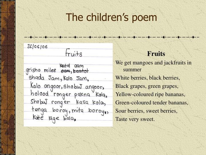 The children's poem