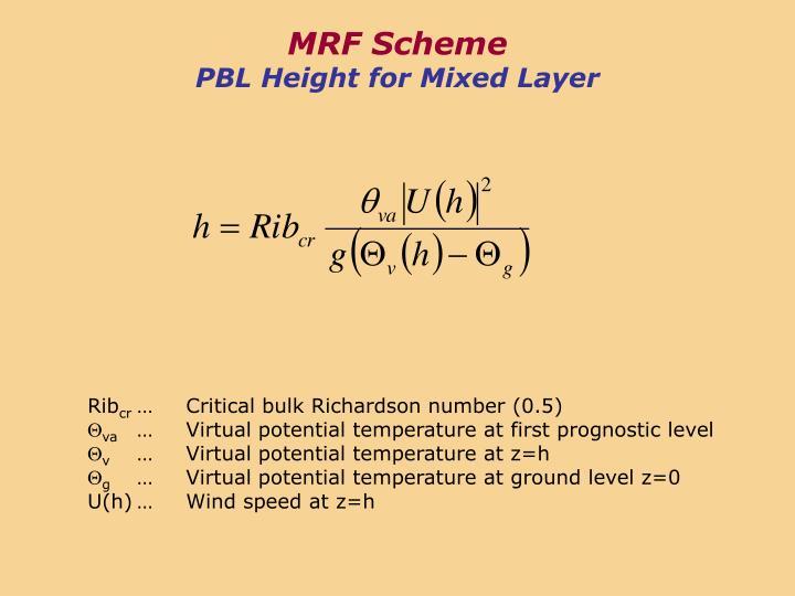 MRF Scheme