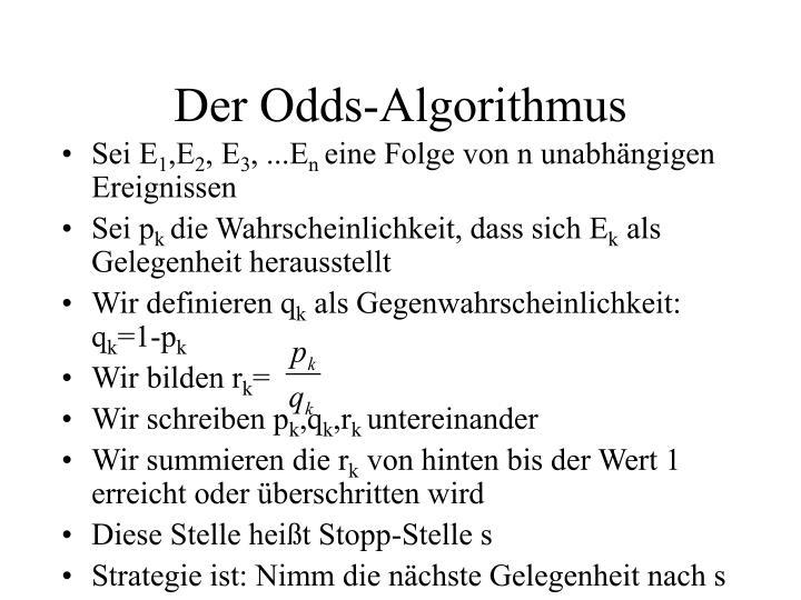 Der Odds-Algorithmus