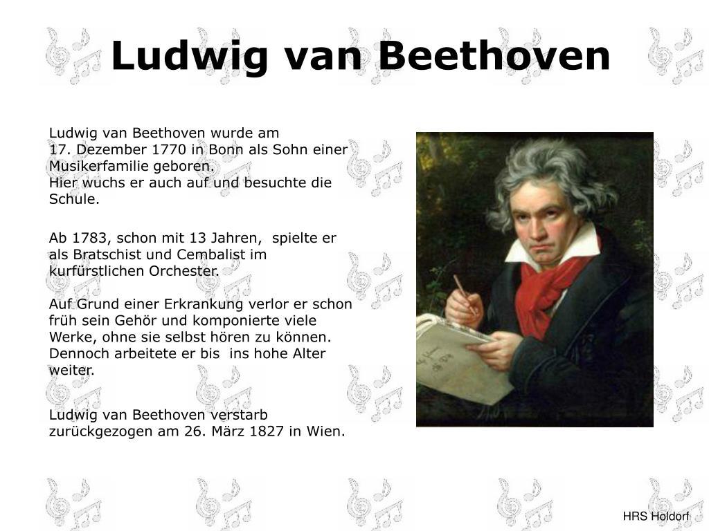 Ludwig Van Beethoven Lebenslauf Curriculum 12