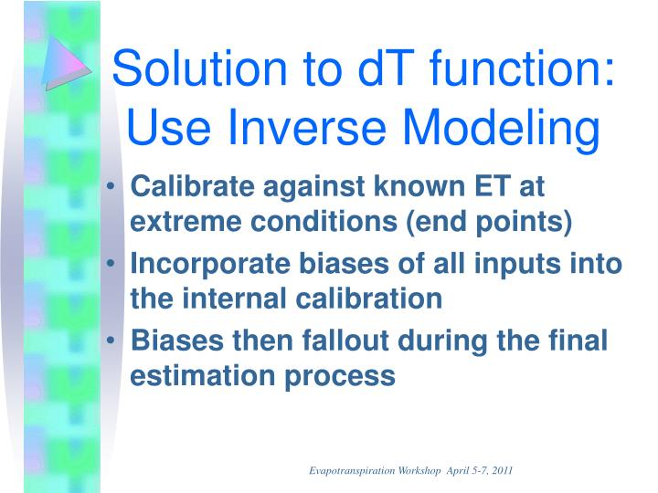Solution to dT function: