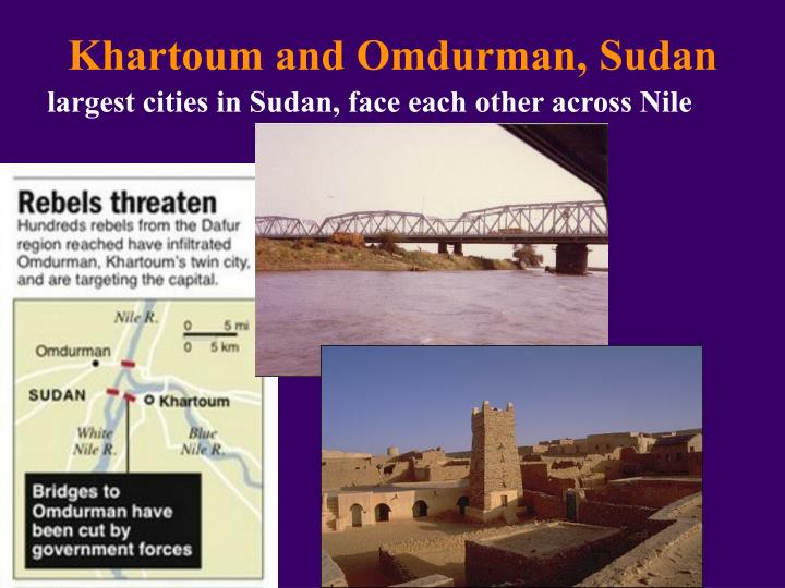 Khartoum and Omdurman, Sudan