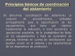 principios b sicos de coordinaci n del aislamiento