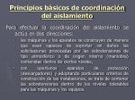 principios b sicos de coordinaci n del aislamiento1