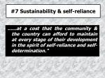 7 sustainability self reliance