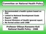 committee on national health policy1
