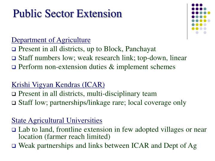 Public Sector Extension