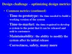 design challenge optimizing design metrics2