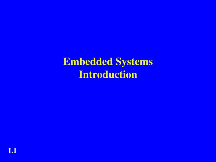 embedded systems introduction n.