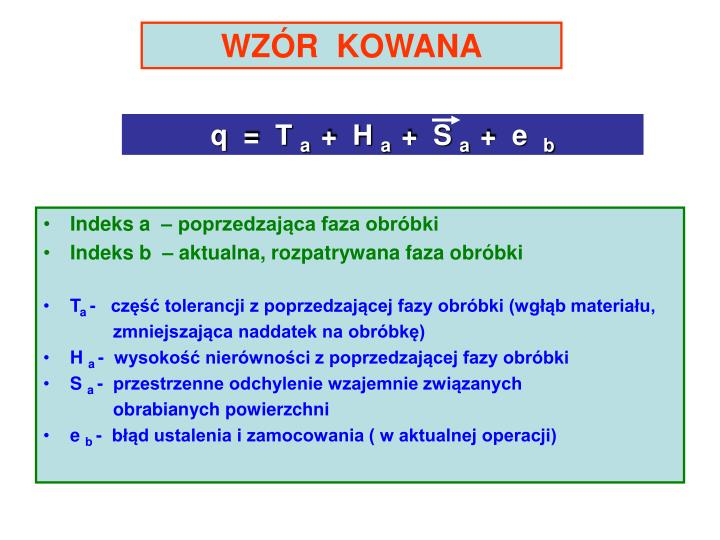 WZÓR  KOWANA