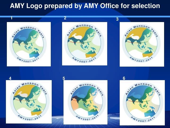 AMY Logo prepared by AMY Office for selection