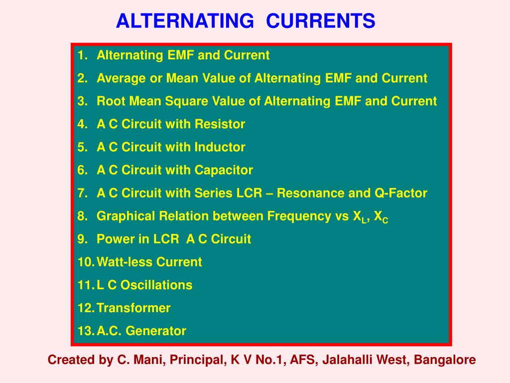 Ppt Alternating Currents Powerpoint Presentation Id4723016 Square Pulse Generator Slide1 N