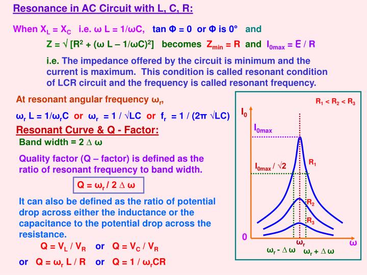 Resonance in AC Circuit with L, C, R: