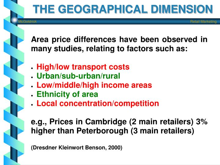 THE GEOGRAPHICAL DIMENSION
