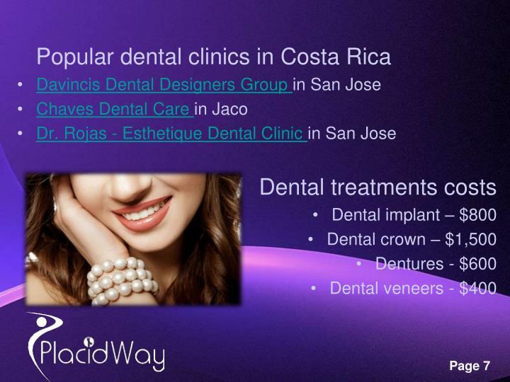 Popular dental clinics in Costa Rica