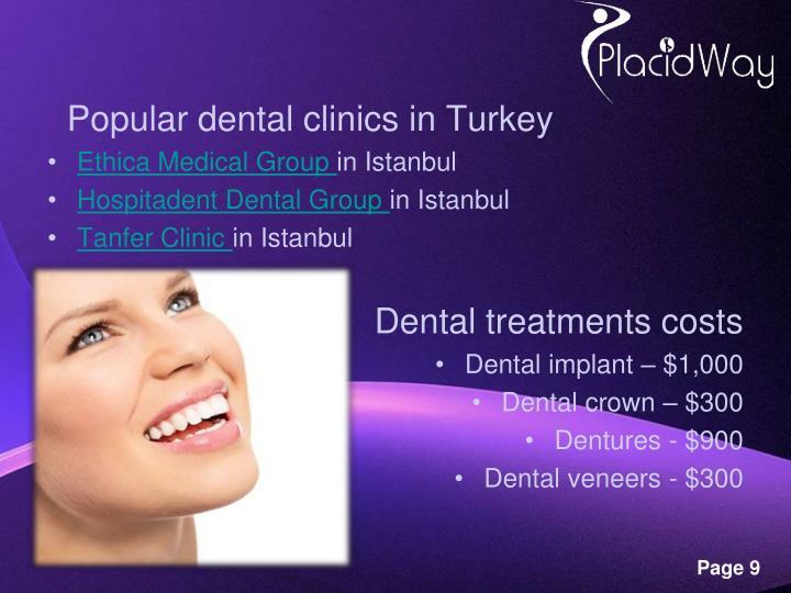 Popular dental clinics in Turkey