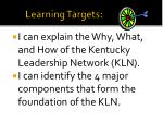 learning targets1