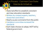 the process common core state standards initiative