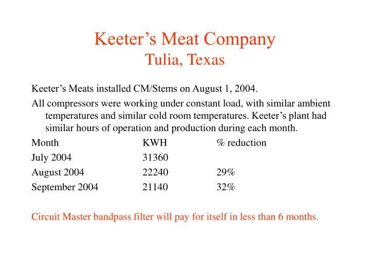 Keeter's Meat Company