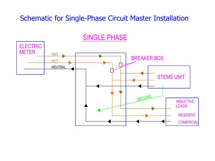 Schematic for Single-Phase Circuit Master Installation