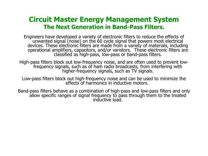 Circuit Master Energy Management System