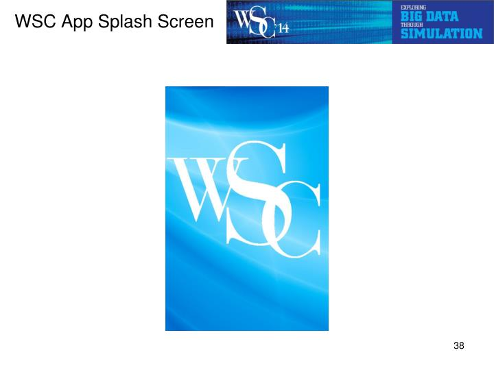 WSC App Splash Screen