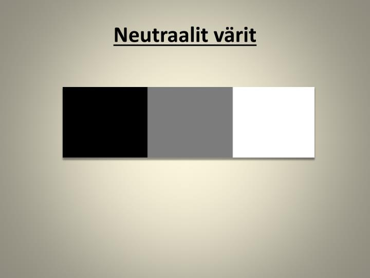 Neutraalit värit