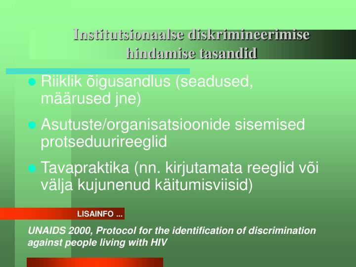 Institutsionaalse diskrimineerimise