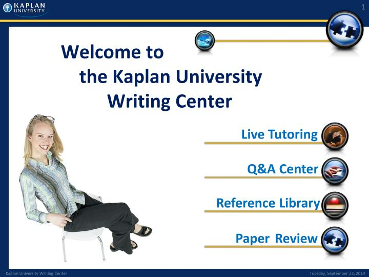 welcome to the kaplan university writing center