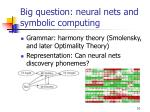 big question neural nets and symbolic computing