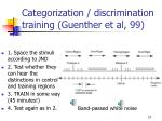 categorization discrimination training guenther et al 99