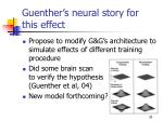 guenther s neural story for this effect