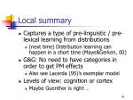 local summary