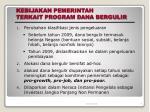 kebijakan pemerintah terkait program dana bergulir