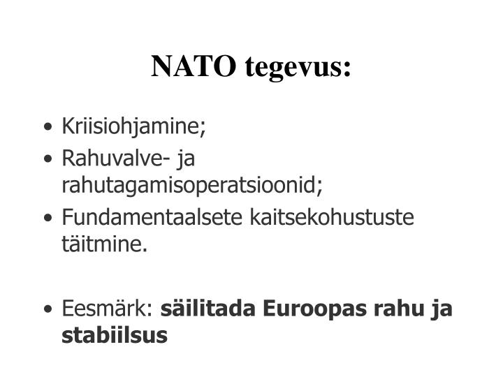 NATO tegevus: