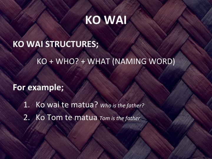 Ko wai