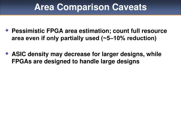 Area Comparison Caveats