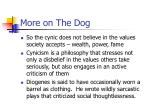 more on the dog