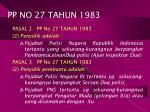 pp no 27 tahun 1983