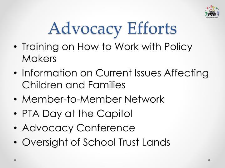 Advocacy Efforts