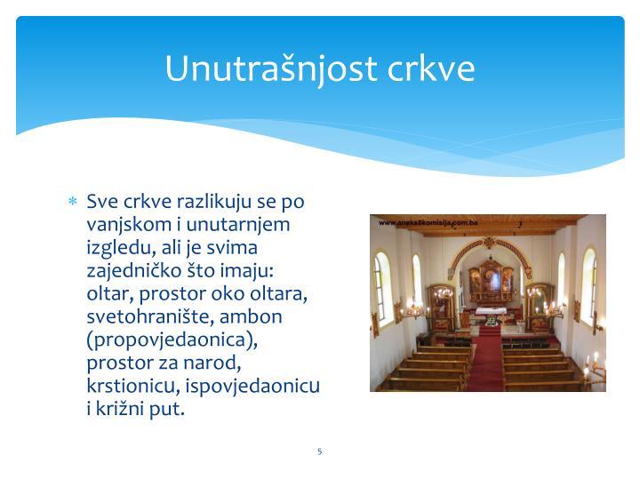 Unutrašnjost crkve