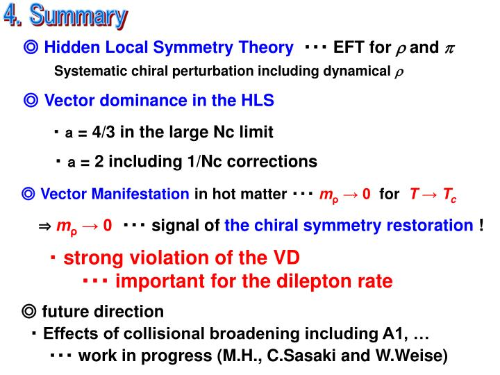 ◎ Hidden Local Symmetry Theory