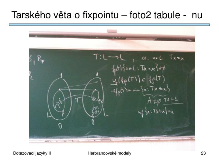 Tarského věta o fixpointu – foto2 tabule -  nu