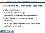 drawbacks of constructed response