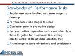 drawbacks of performance tasks