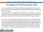 example of performance task