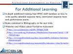 for additional learning